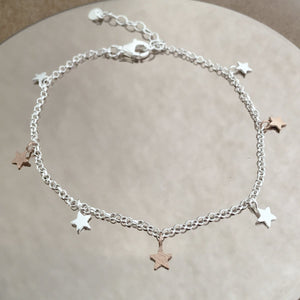 Sterling Silver Star Bracelet Create Your Own Personalised Gift Box