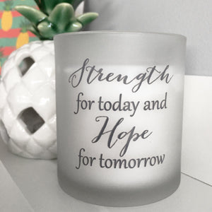 'Hope & Strength' Candle