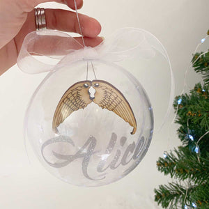 You added Personalised 'Angel Wings' 10cm Memorial Bauble to your cart.