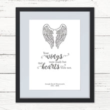 Load image into Gallery viewer, Personalised 'Your wings were ready' Print