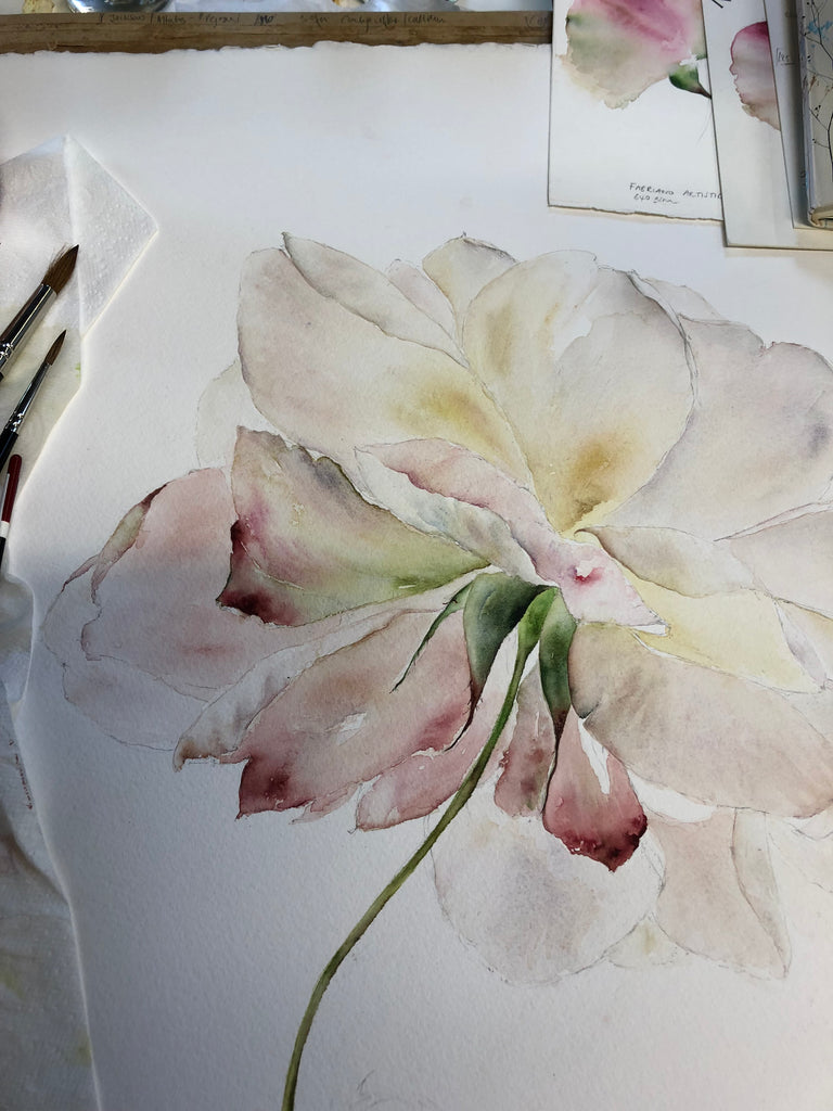 Watercolour Course Bridge of Allan 2019 - Painting Seasonal Flowers