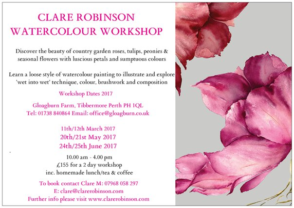 Gloagburn Farm - Watercolour Workshops June '17