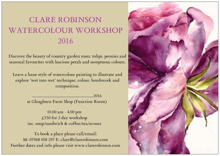Watercolour Courses for 2016