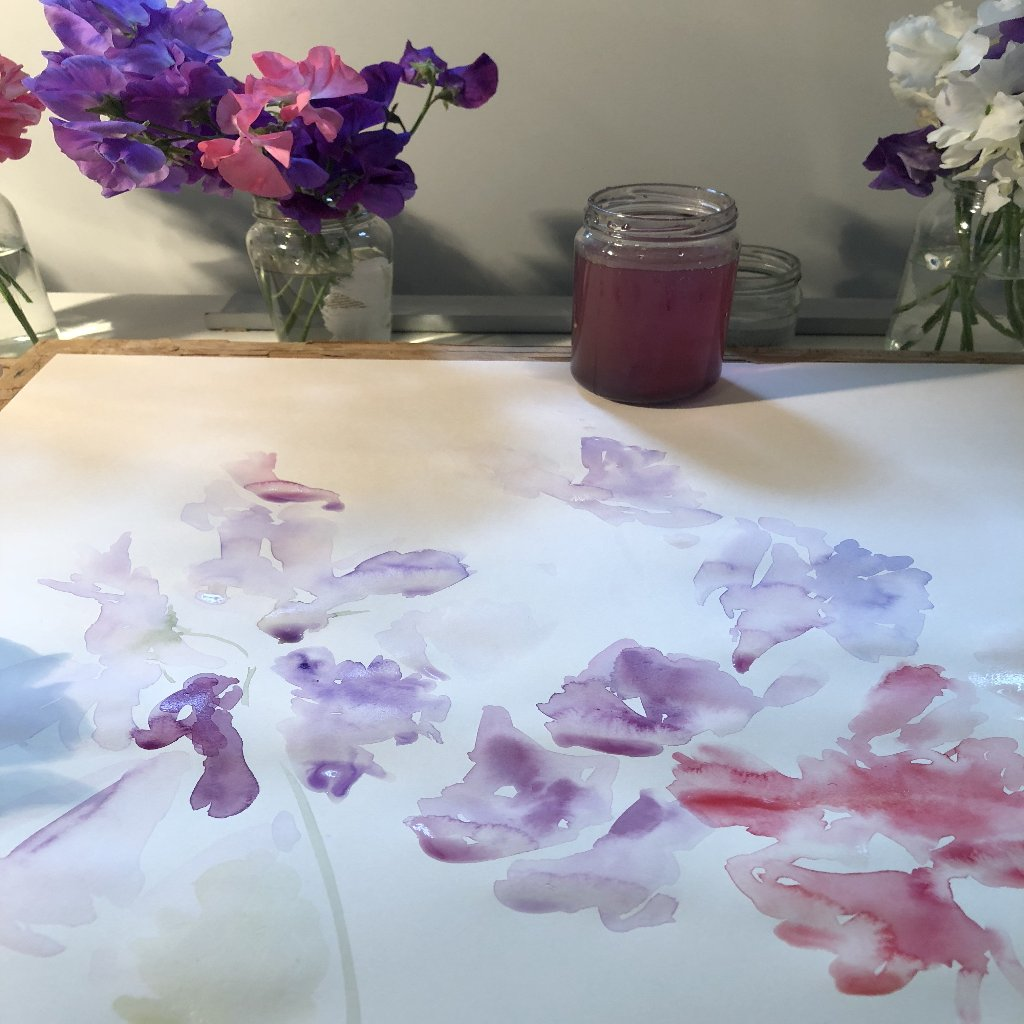 Watercolour Course Painting Seasonal Flowers, LECROPT KIRK HALL, BRIDGE OF ALLAN 7th Monday - 28th September 2020