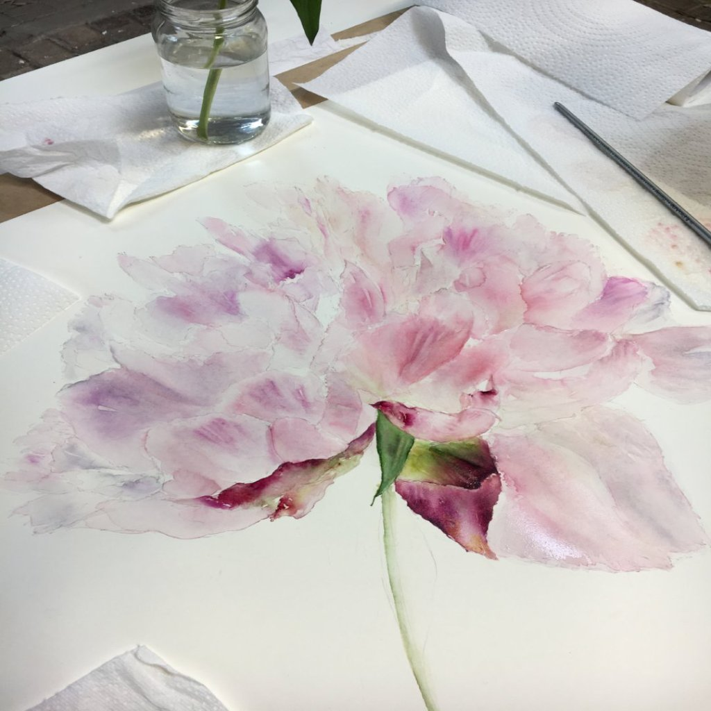 Watercolour Workshop, Daylesford, Cotswolds Friday 24th May 2019