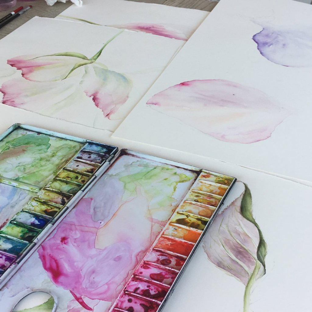 Watercolour Workshop, Daylesford, Cotswolds Thursday 11th July 2019