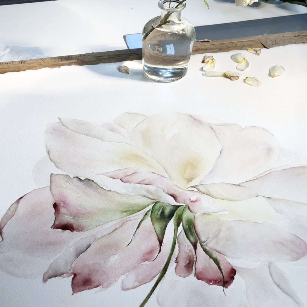 Watercolour Workshop, DAYLESFORD ORGANIC FARM, COTSWOLDS Thursday 24th September 2020
