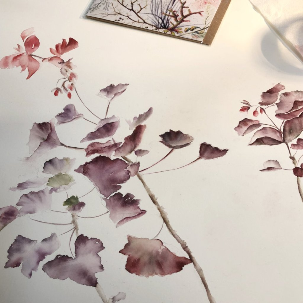 Watercolour Course Painting Seasonal Flowers, Lecropt Kirk Hall, Bridge of Allan 4th - 25th March 2019