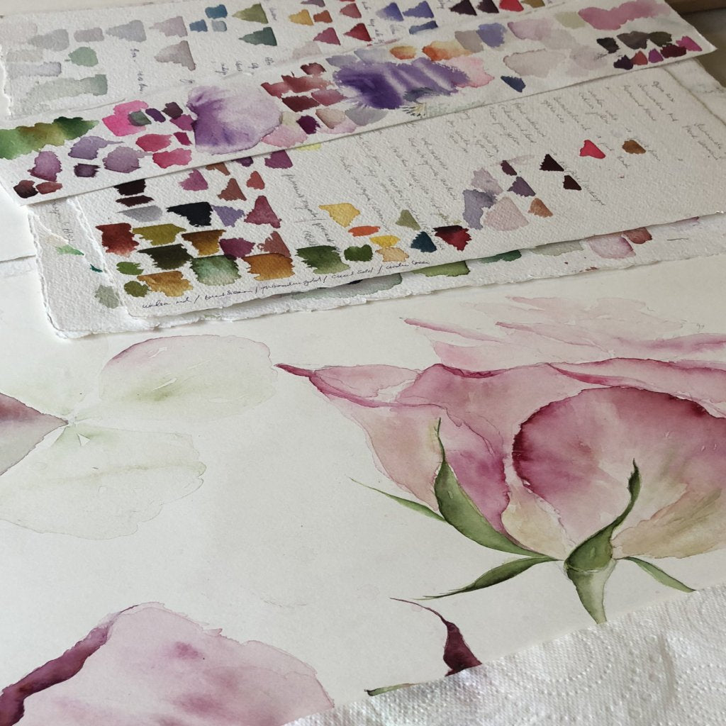 Watercolour Course Painting Seasonal Flowers, LECROPT KIRK HALL, BRIDGE OF ALLAN 20th April - 25th May 2020