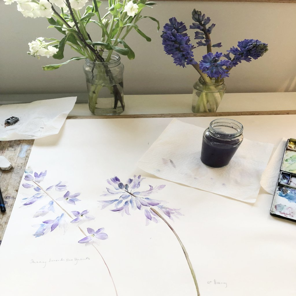Watercolour Course Painting Seasonal Flowers, Lecropt Kirk Hall, Bridge of Allan 6th May - 17th June 2019