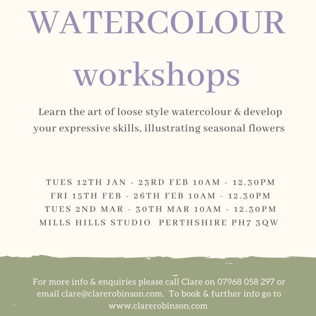 NEW for 2021 WATERCOLOUR CLASSES