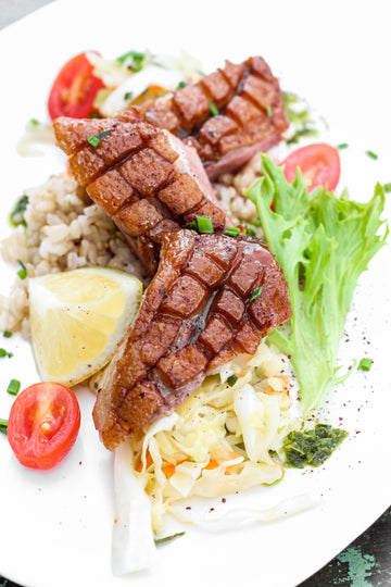 Grilled Marinated Duck Breast Shish Kebab