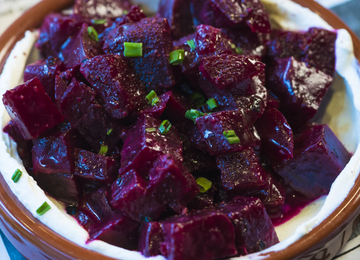 Roasted beets w/ Labne Yogurt