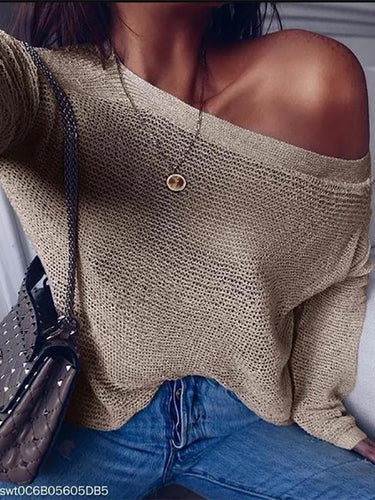 Autumn Long Sleeve Knit Sweater Female