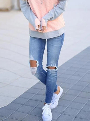 Women's Fashion Casual Ripped Jeans
