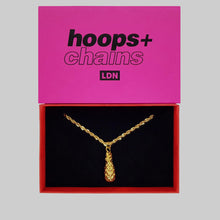 Load image into Gallery viewer, Pineapple Pendant Necklace - Hoops + Chains LDN