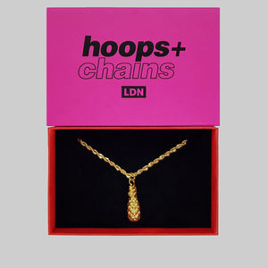 Pineapple Pendant Necklace - Hoops + Chains LDN