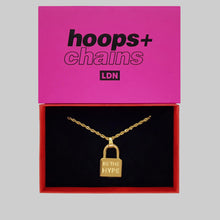 Load image into Gallery viewer, 'Be The Hype' Padlock - Hoops + Chains LDN