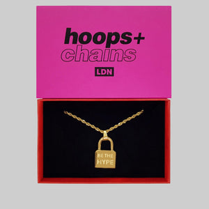 'Be The Hype' Padlock - Hoops + Chains LDN