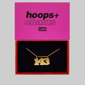 143 'I Love You' Chain - Hoops + Chains LDN