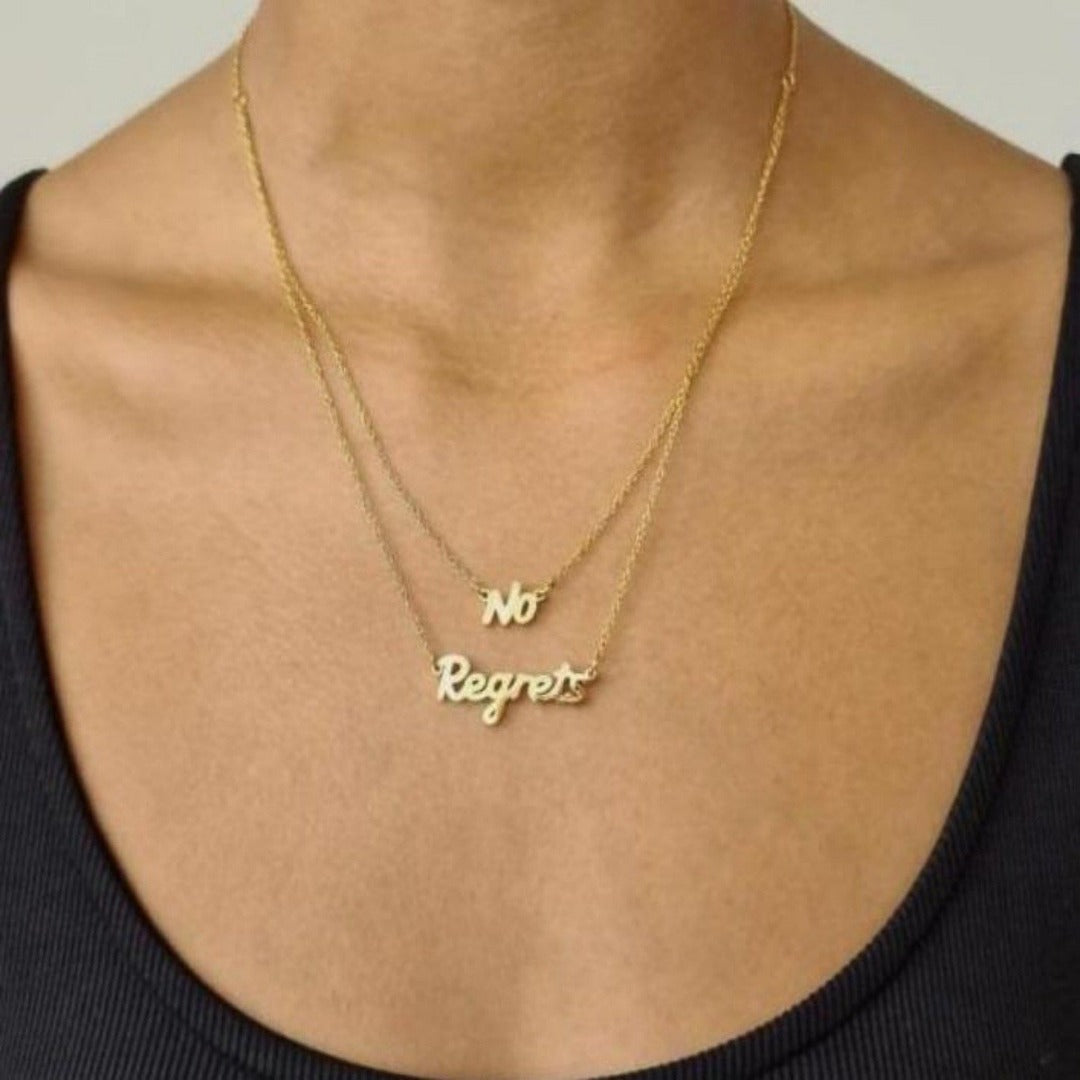 'No Regrets' Double Chain - Hoops + Chains LDN