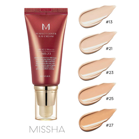 MISSHA M PERFECT COVER BB CREAM SPF 42 PA+++, 1.7 oz / 50ml #13, #21, #23, #31