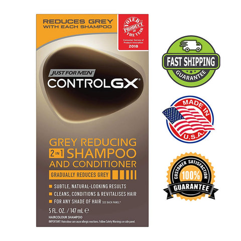 Just For Men Control GX 2 in 1 Grey Reducing Shampoo and Conditioner 5 Fl Oz