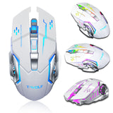 Gaming Wireless Mouse 2400 DPI Adjustable 6 Buttons RGB Backlit Comfortable Grip