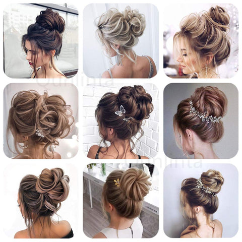 Synthetic Hair Bun Extensions Hair Piece Thick Updo Scrunchies Ponytail Hair Bun