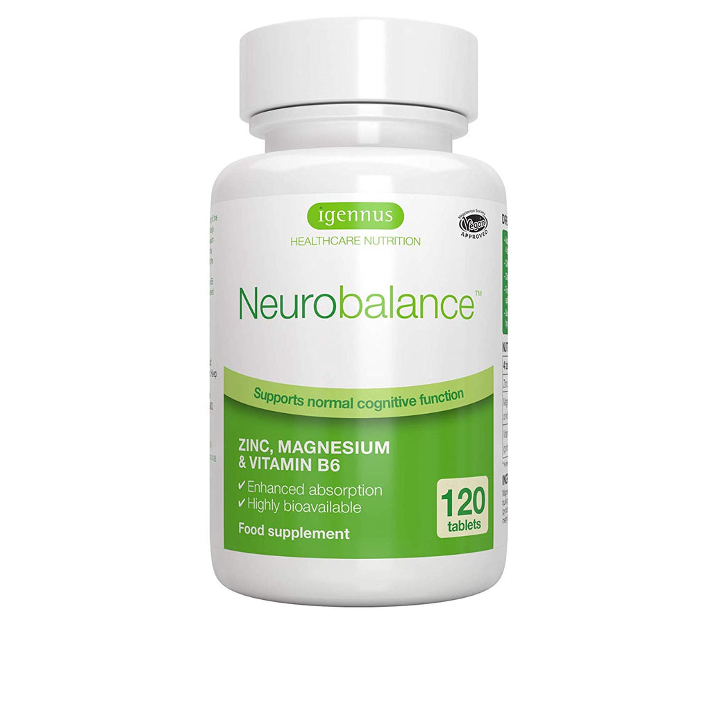 Igennus Neurobalance Zinc, Magnesium & Vitamin B6 Supplement 120 Tablets