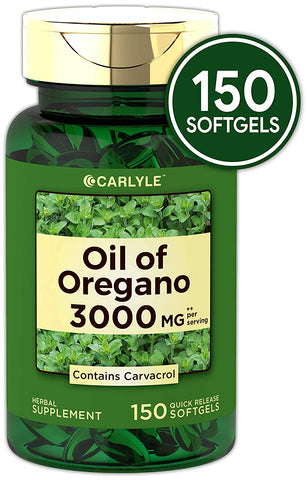Oregano Oil 3000 mg Contains Carvacrol 150 Softgels For Healthy Skin And Nails