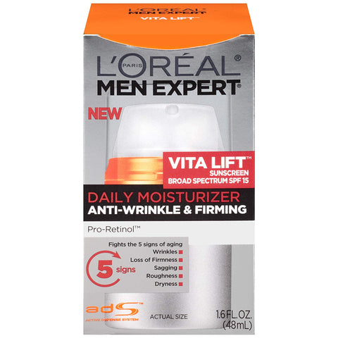 L'Oreal Paris Men Expert Vita Lift Anti-Wrinkle & Firming Face Moisturizer with SPF 15 and Pro-Retinol 1.6 fl. oz.