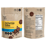HighKey Snacks Low Carb Keto Chocolate Brownie Cookie Bites - Atkins, Paleo, Diabetic Diet Friendly Health Snack - Gluten Free, Soy Free & Low Sugar Dessert, Non-GMO Ketogenic Food Pack of 3, 2.25oz