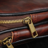 Vintage Diagonal Cross Bag Chest Bag Men's PU Leather Shoulder Bags
