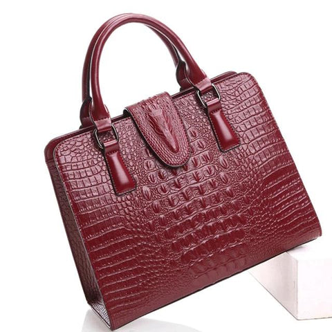 Women's Shoulder Bag Handbag Genuine Leather Crossbody Messenger Crocodile