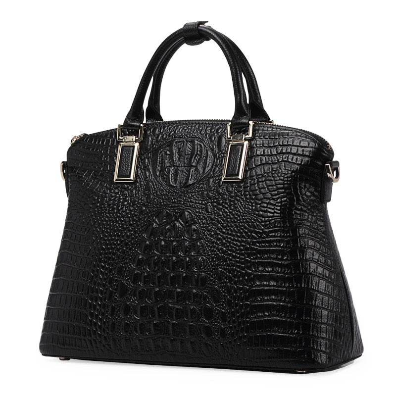 Authentic Women Crocodile Bag Genuine Leather Women's Handbag Tote Bag
