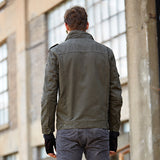 Men's Casual Jackets Army Clothes Green Khaki Military Jacket Winter Cargo