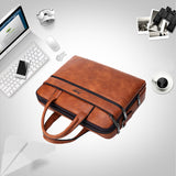Men's Briefcase Bags Laptop Man Business Bag 2Pcs Set Handbags High Quality Leather Office Shoulder Bags Tote