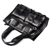 Men's Split Leather Handbag Messenger Bags Pocket Soft Handle Laptop Briefcases