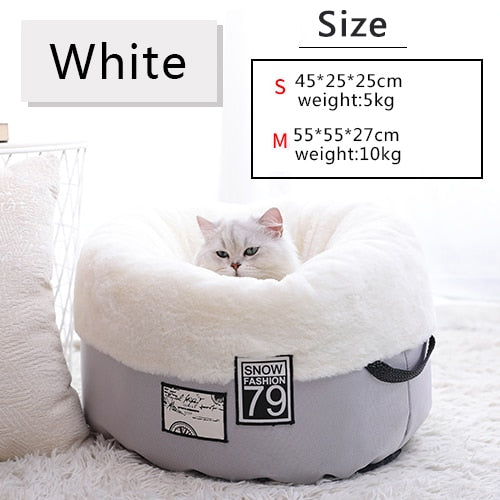 Cat Dog Bed Warming Pet House Soft Material Sleeping Bag Cushion Puppy Kennel