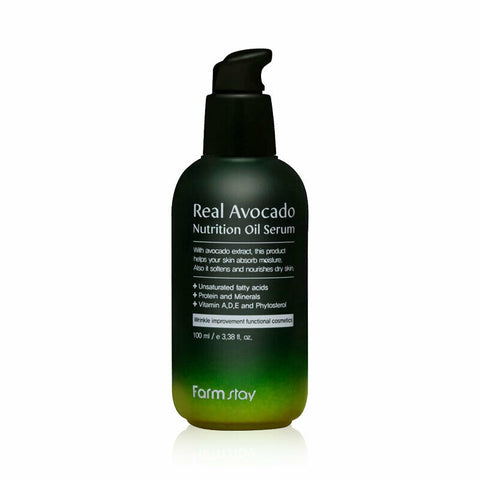 FARM STAY Real Avocado Nutrition Oil Serum 100ml Korean Cosmetics