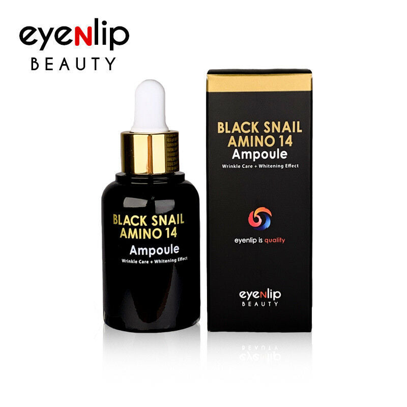 Black Snail Amino 14 Ampoule 30ml Korean Cosmetics eyeNlip Beauty