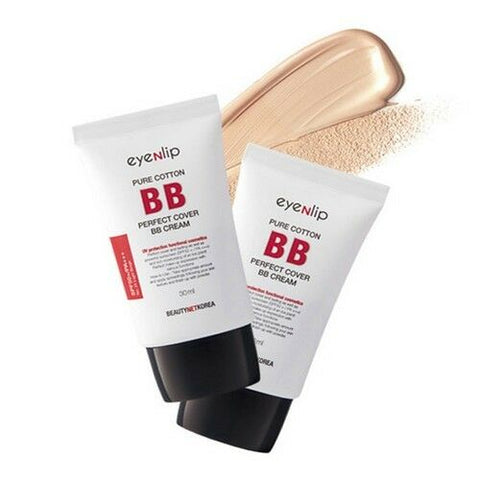 Pure cotton perfect cover bb cream 30ml Korean Cosmetics eyeNlip Beauty