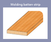 Molding batten-strip