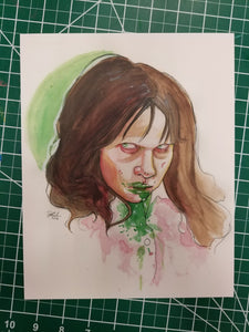 "Reagan The Exorcist horror print 8x10"" print Original artwork by Philly artist @seansartaccount sean ellmore south street art mart"