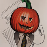 Dwight's Pumpkin Head (The Office) PRINT