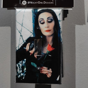 Morticia Addams LIGHT SWITCH PLATE