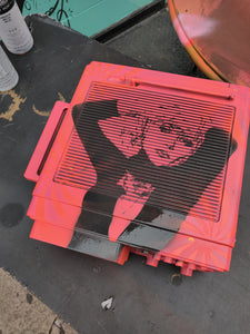 Blondie Debbie Harry Spray-Painted Portable TV / Radio (Works!)
