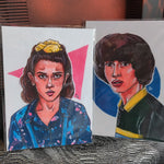 Stranger Things Eleven & Mike PRINT SET
