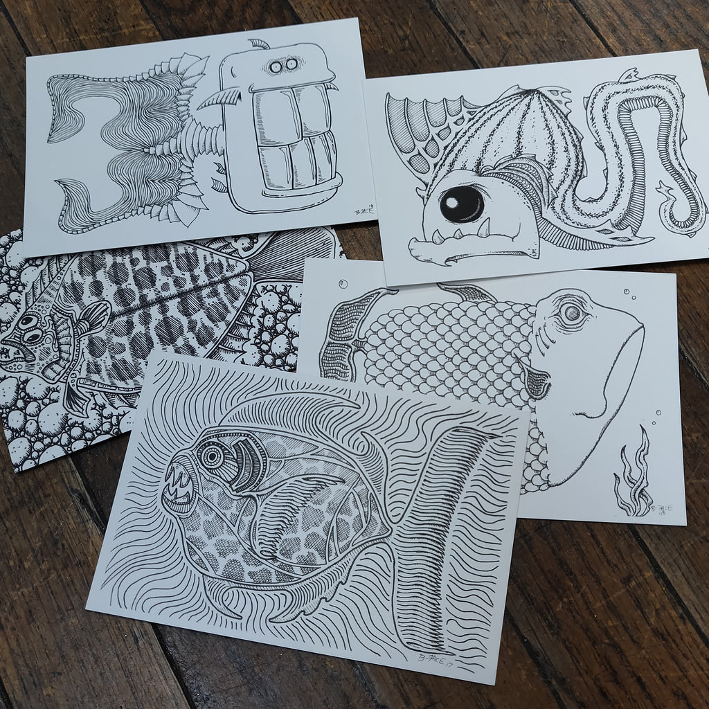 Weird Fish POSTCARDs